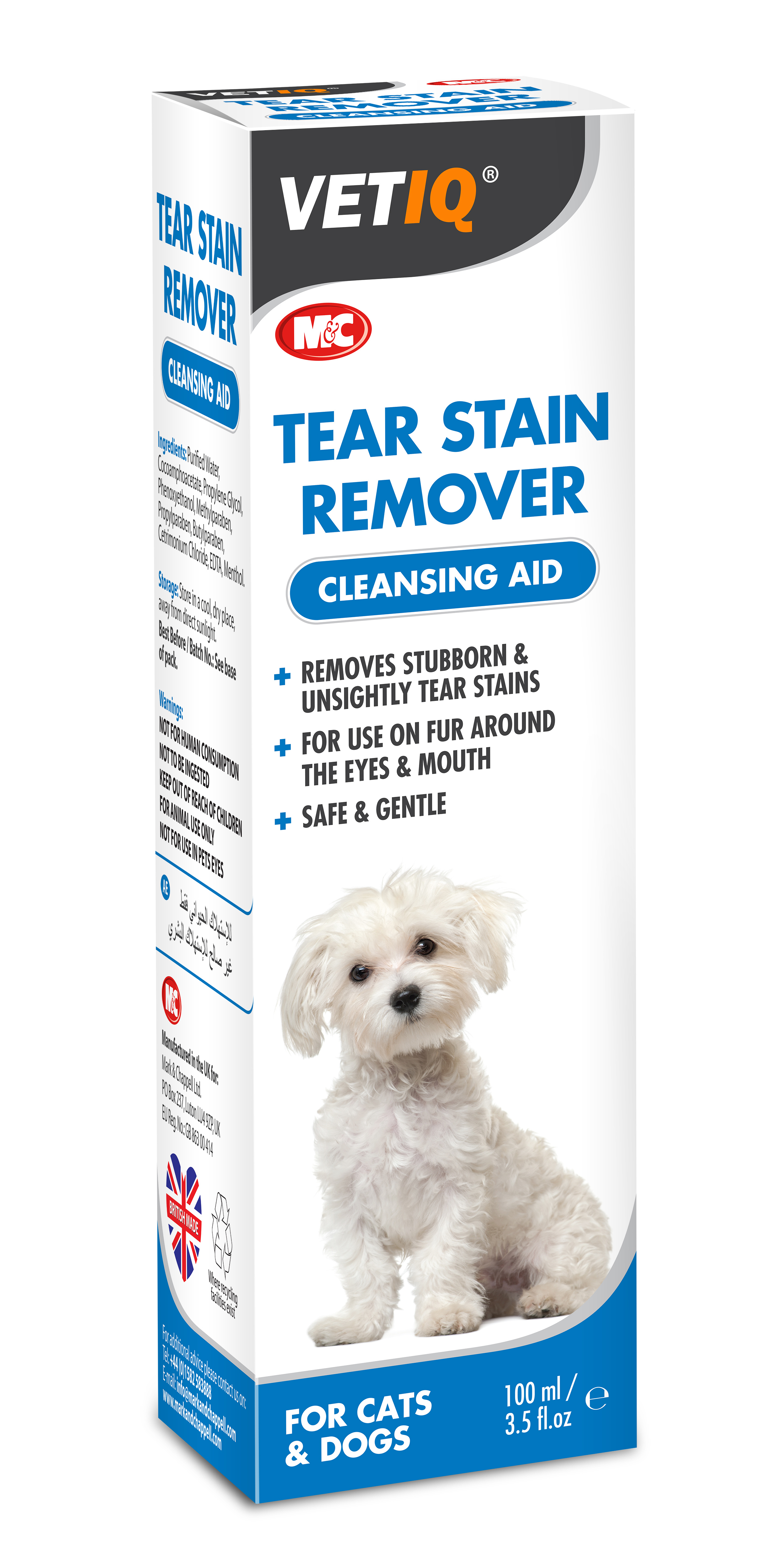 Tear stain remover liquid
